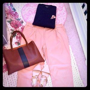 ASOS Cropped Blush Trousers